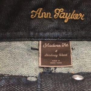 Ann Taylor Jeans - Ann Taylor Jeans 4 bootcut dark wash snap pockets
